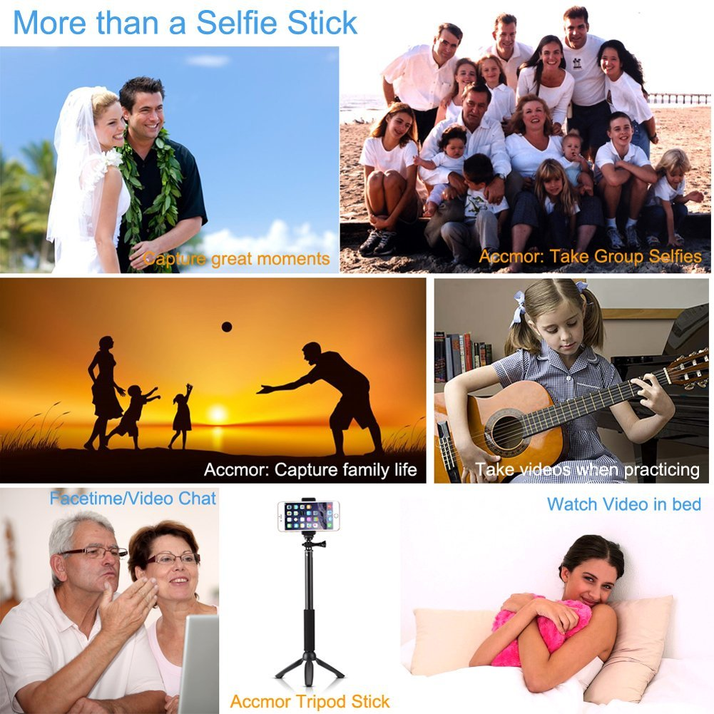 AceC Rhythm Pro Selfie Stick Monopod With Mini Tripod Stand - Replacing guns in famous movie scenes with selfie sticks is way better than youd imagine
