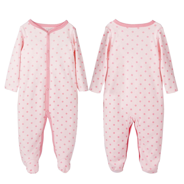 2er Pack FUTURE FOUNDER Baby-M/ädchen Schlafstrampler