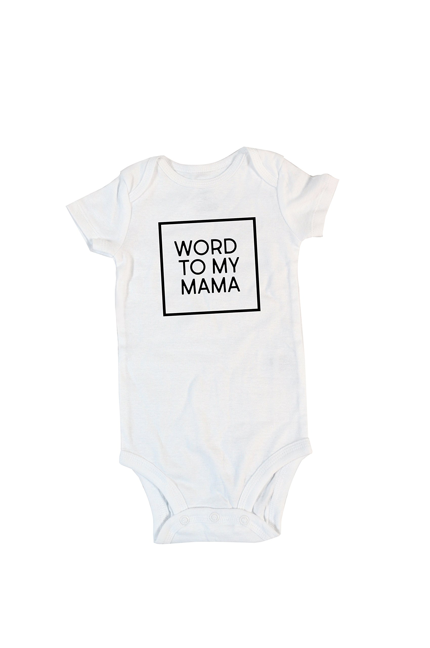 Belle Lane Designs, Boy's Word To My Mama Onesie, Mother's Day Gift or Momma's Boy 403
