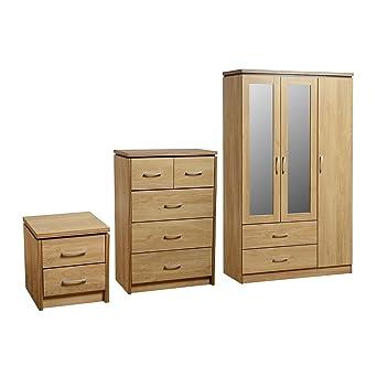 Charles Classic - Juego de 3 muebles para dormitorio ...