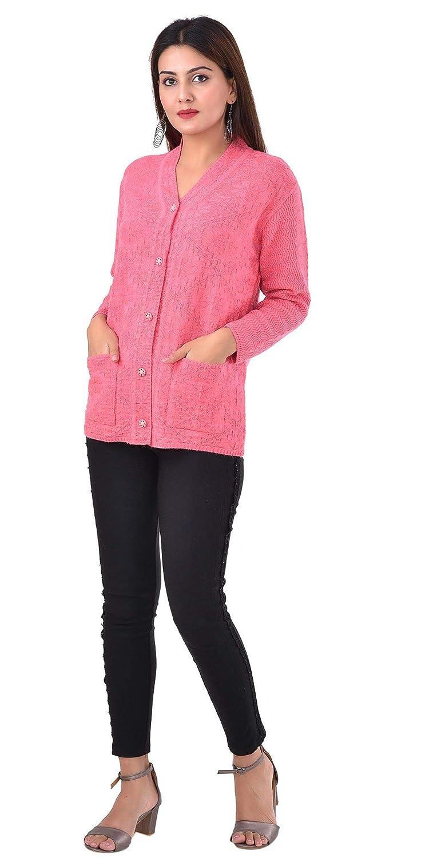 SWAMAV Women's Woollen CardiganSweater with Pockets Light