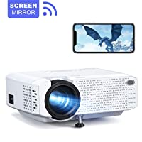 Crosstour Mini WiFi Projector Synchronize Smartphone Screen Video Proyector Full...