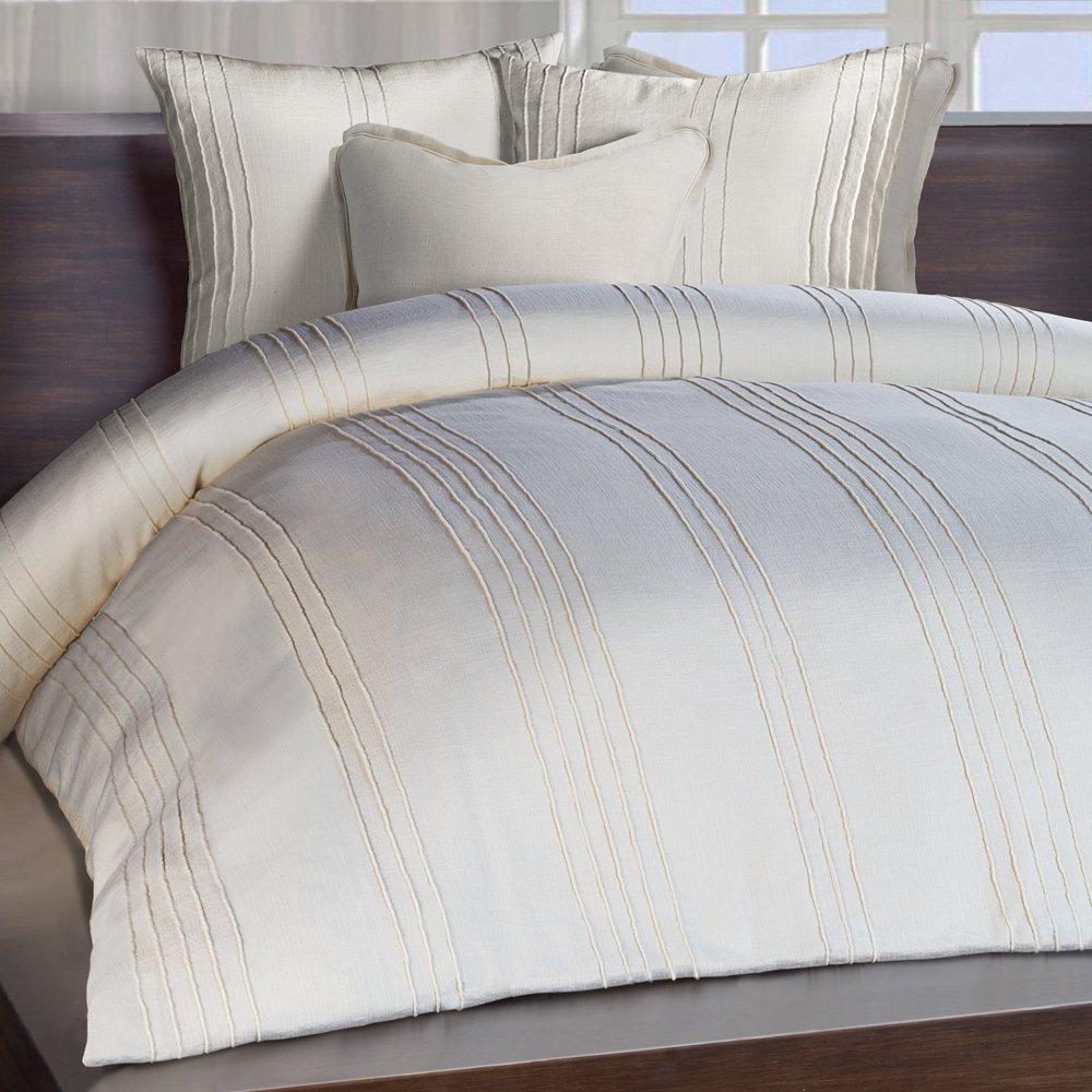 Chauran Avalon 100/% Cotton Duvet Cover Ivory CDV02IvoryQueen
