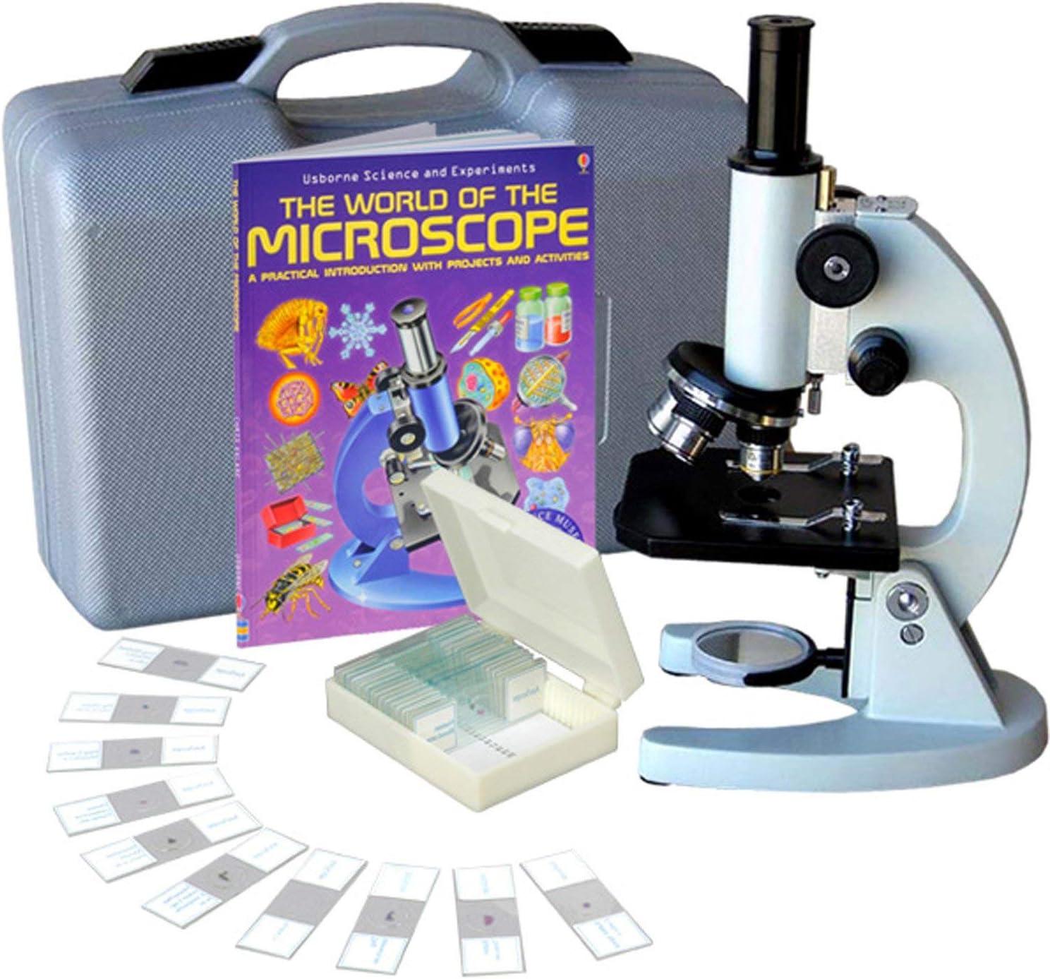 AmScope ABSケース、25PC標本&予約で40倍、1000倍の学生金属化合物顕微鏡