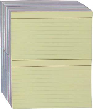 Amazon Basics Ruled Color Index Cards, 3