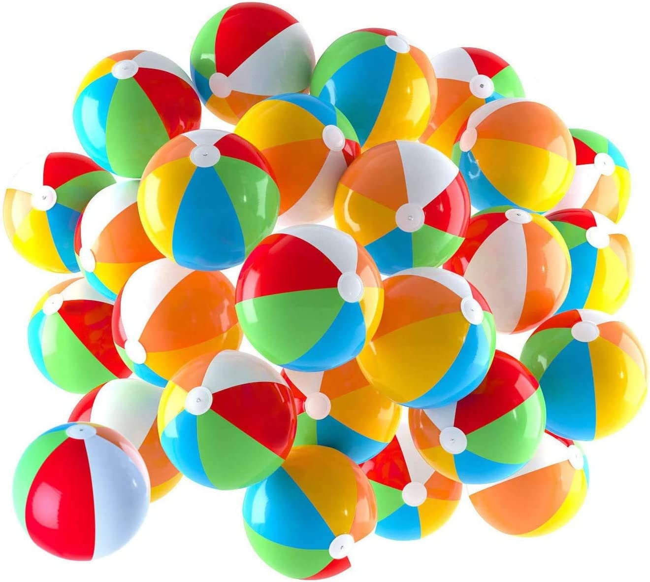 Inflatable Beach Balls 5 inch for The Pool, Beach, Summer Parties, Gifts and Decorations (25 Balls): Sports & Outdoors