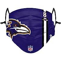 Forever Collectibles UK Lamar Jackson Baltimore Ravens On-Field Sideline Logo Jeugd Gezicht Cover