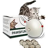 PAWSFUN Giocattoli per gatto palle gioco per gatti interattiva automatico rotolamento light entertainment esercizio per gatti e cani Puppy (9 batterie incluse)
