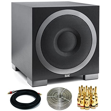 Elac Debut Series S12EQ 1000 Watt Powered Subwoofer w/App Control&Auto EQ (DS12EQ1-