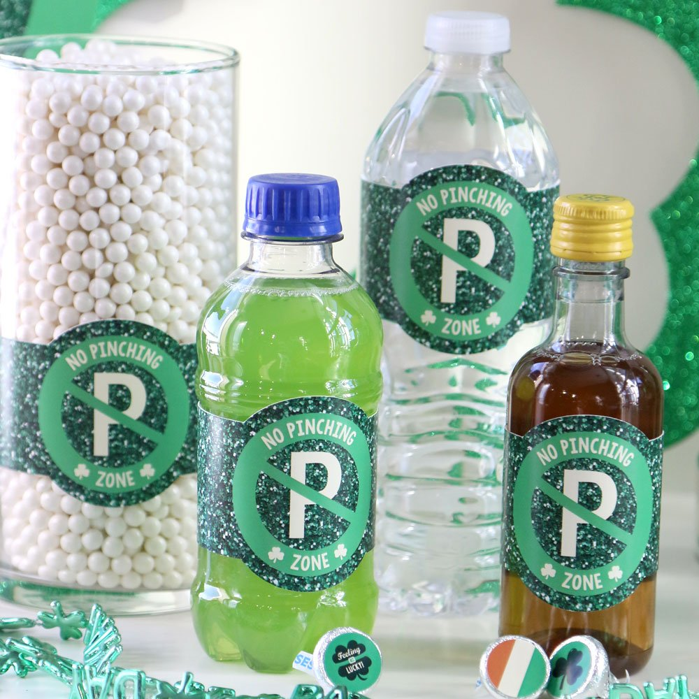 Patricks Day Saint Patty/'s Day Party DIY Wrapper Favors /& Decorations Set of 15 St DIY Party Supplies