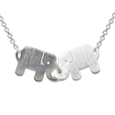 eec5a45fb6743 NOVICA .925 Sterling Silver Handmade Animal Themed Pendant Necklace, 17.5