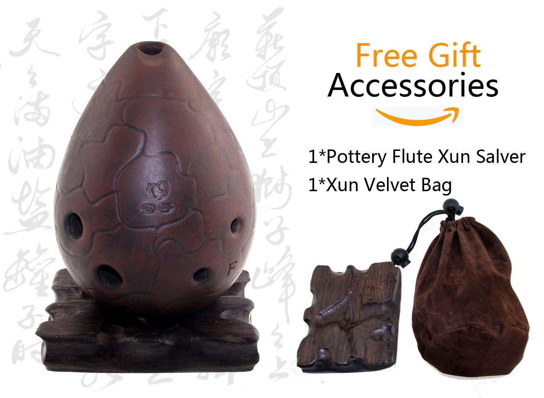 NICOSHINE Professional Chinese Flute Xun Instrument Ceramic Ocarina