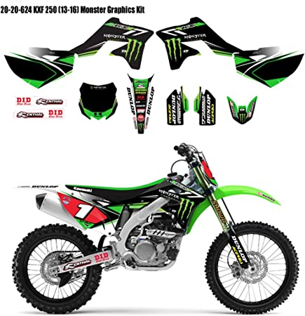 Amazon.com: 2014 DCor Team Monster Kawasaki Graphics Kit ...