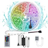 Ridasmartcom LED Strip Lights 5 Metre 300 LED Colour Changing Waterproof Lighting Strip with Remote Control 44 Buttons…