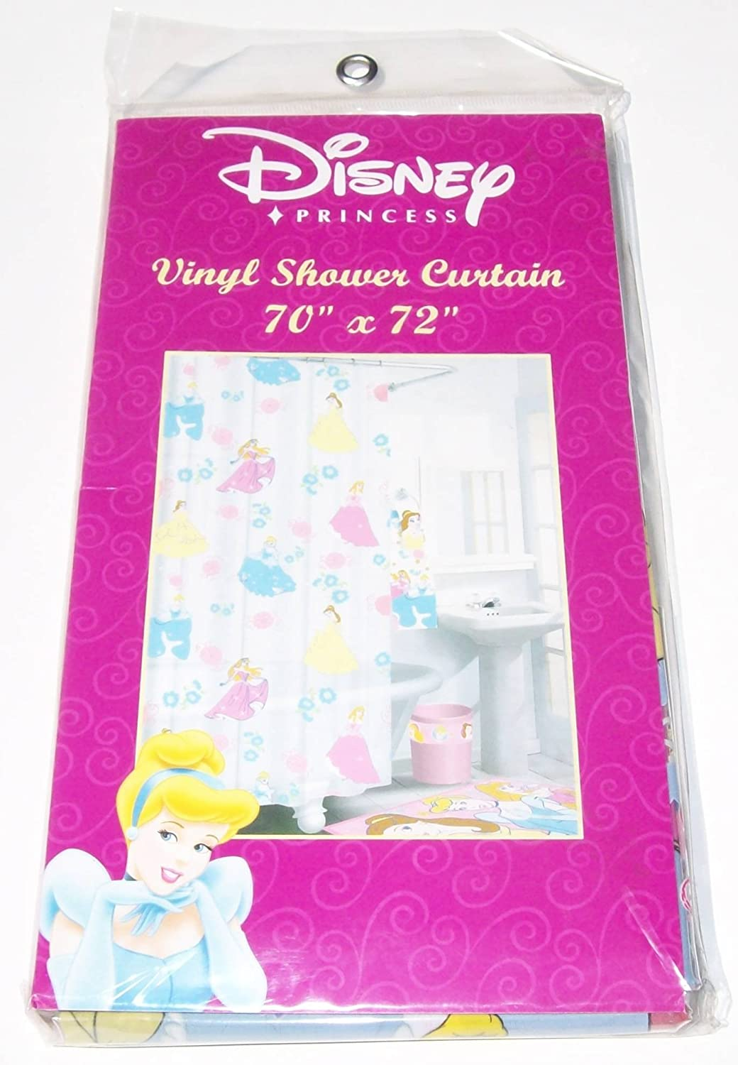 Amazon Disney Princess Vinyl Bathroom Shower Curtain 70 X 72 Home Kitchen