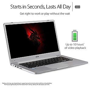 "AGB Orion ZQ-1608 All New 14"" Laptop (7th Generation Intel Core i7-7500U / 32GB RAM / 1TB SSD + 1TB HDD / Intel Integrated 620 DDR 4 / Win 10 Pro / Aluminium Body / Free Bluetooth Mouse"