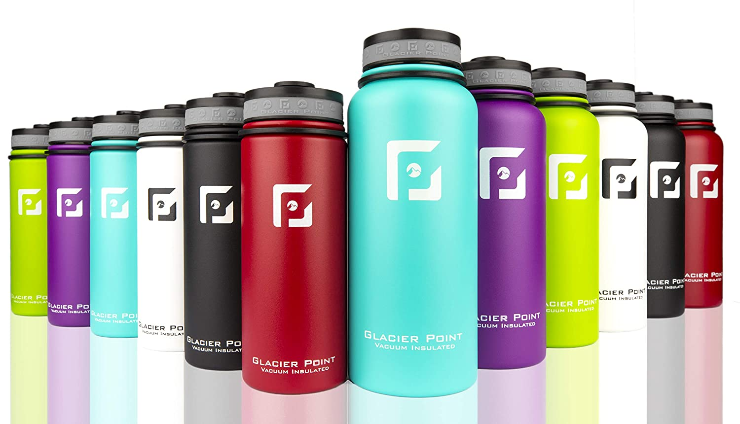 Glacier Point colorful stainless steel water bottles