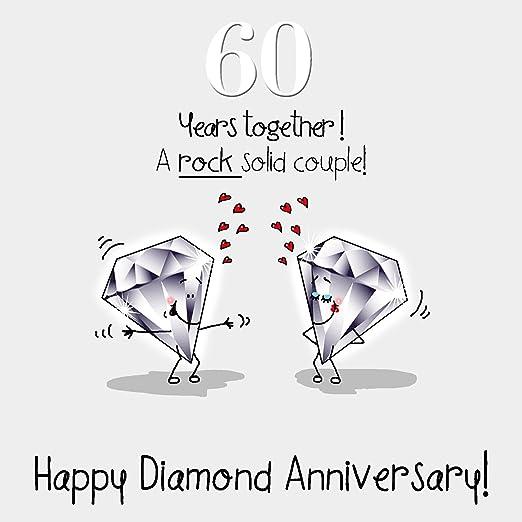 60th aniversario de boda Tarjeta de felicitación – Bodas de ...