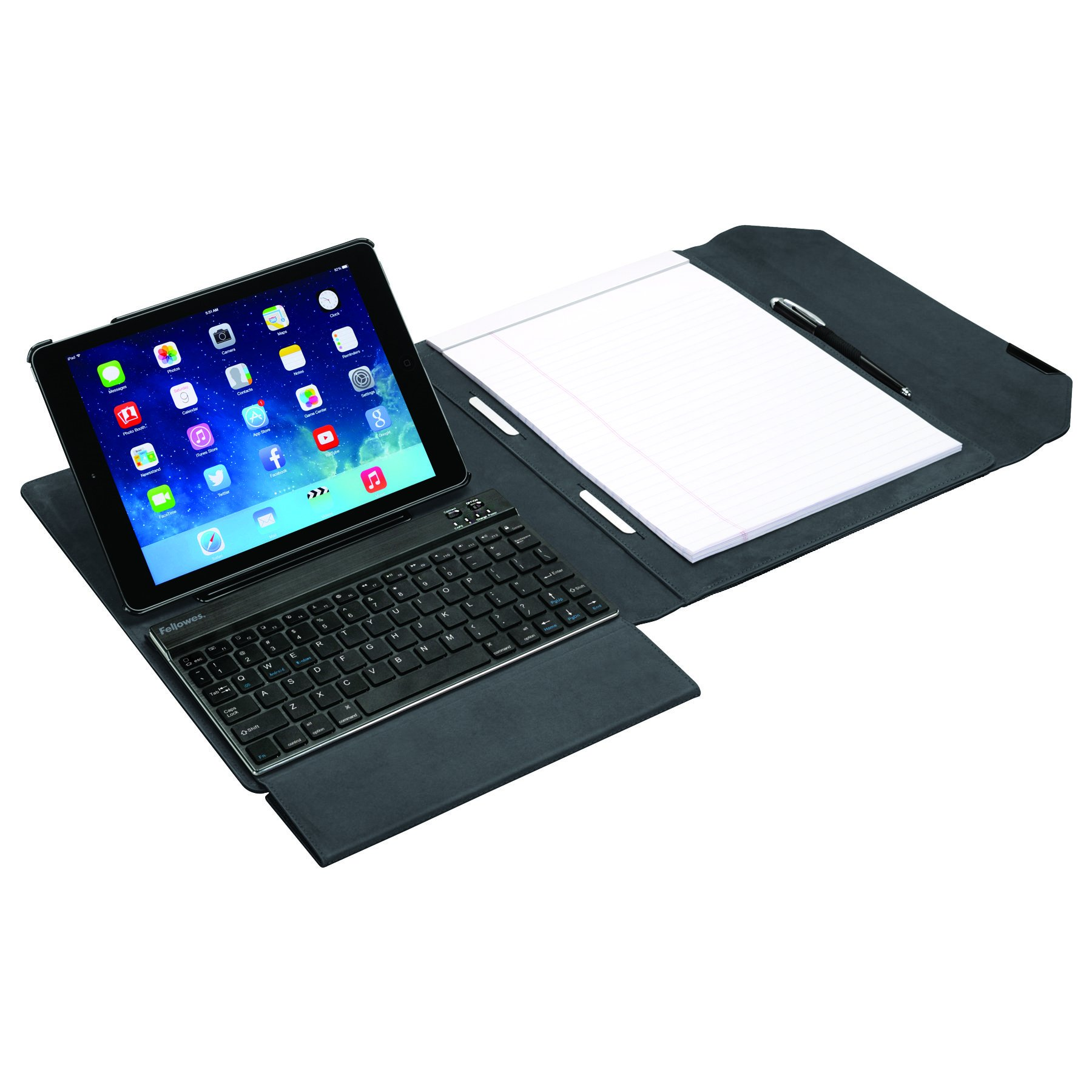 Fellowes MobilePro Series Executive Tablet Case Folio with Keyboard for iPad Air/Air 2 (8200901)