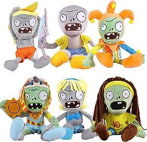TavasHome Plants vs Zombies 2 PVZ Figures Plush Baby Staff Toy Stuffed Soft Doll Lot 6pcs/Set