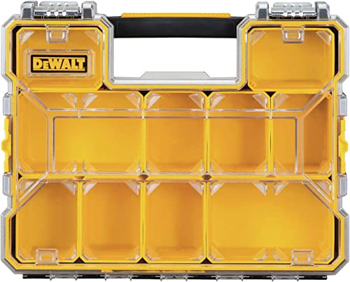 DEWALT DWST14825 10-Compartment Deep Pro Part Tool Organizer with Metal Latch