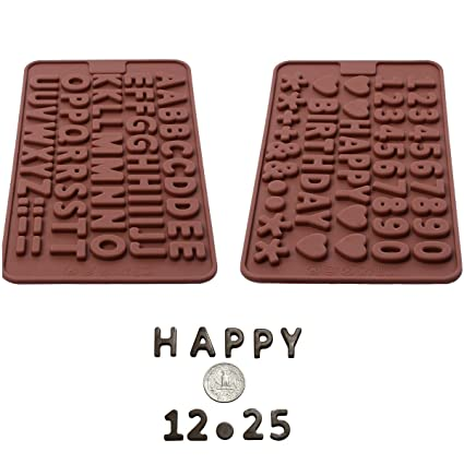 Amazon Silicone Letter Mold And Number Chocolate Molds With