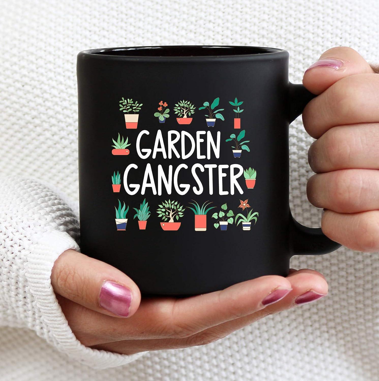 DKISEE Coffee Mug Garden Gangster Mug, Garden Lover Mug, Plant Lover Gift, Plant Lover Mug, Garden Lover Gift 11oz