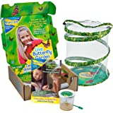 Insect Lore Live Butterfly Growing Kit Toy - 5 Caterpillars to Butterflies - SHIP NOW