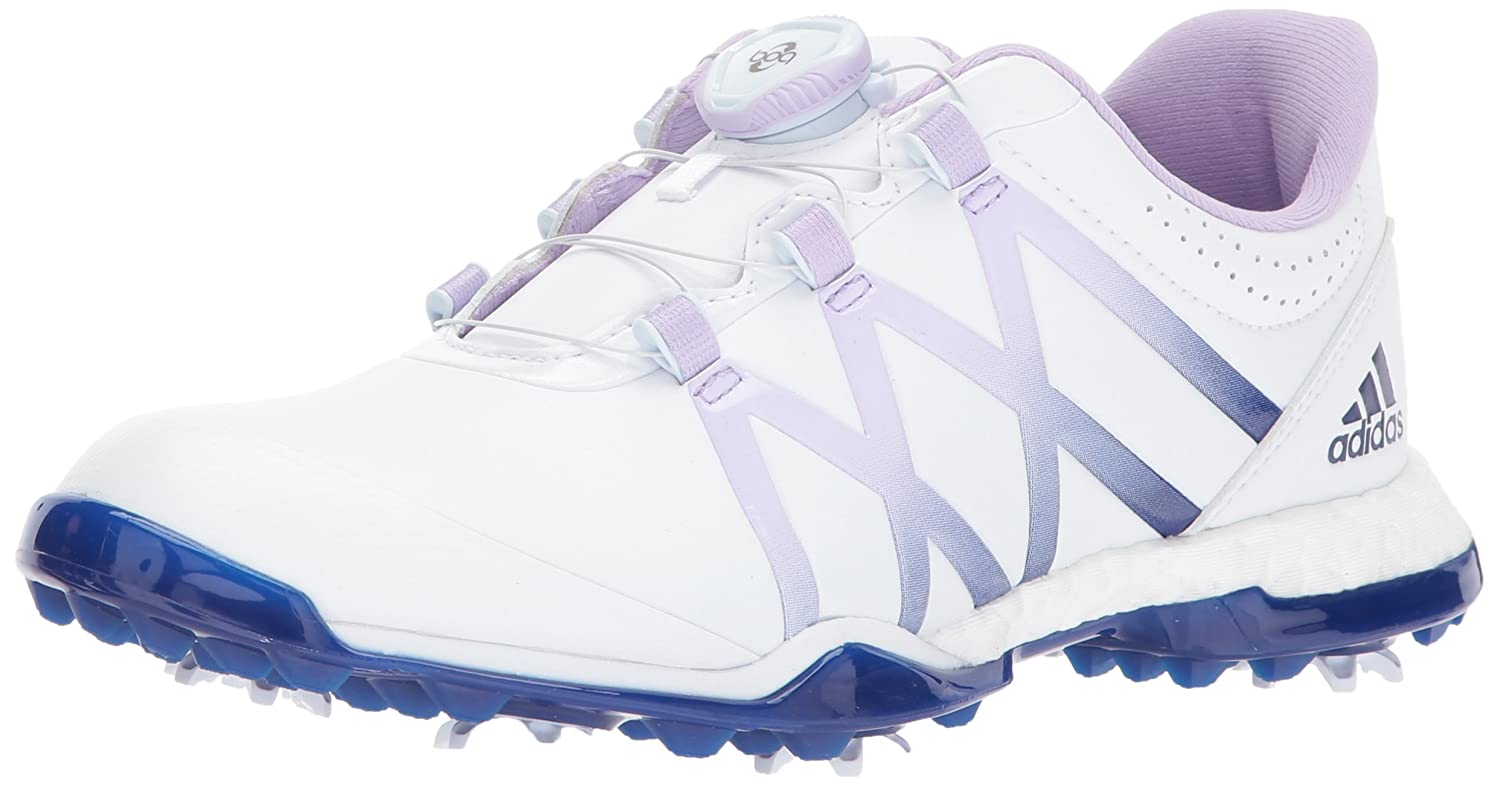 adidas Women's W Adipower Boost Boa Golf Shoe B01MU71Q8X 5.5 B(M) US|White/Purple Glow/Mystery Ink