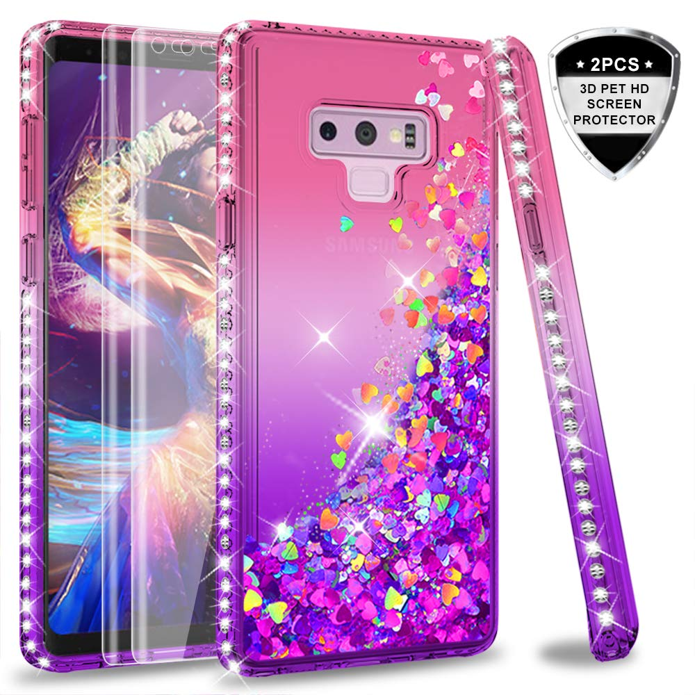 Amazon.com: Note 9 Glitter Case with 3D PET Screen Protector ...