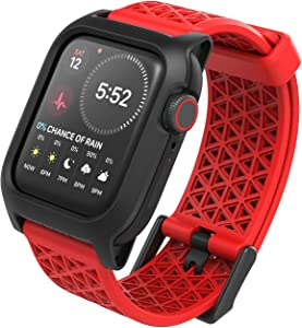 Catalyst Designed for Apple Watch Series SE/6/5/4/3/2/1, Sport Bands, 24mm Band Designed for Apple Watch 44mm 42mm, Breathable, Sports Wristband Replacement Band Without connectors - Flame Red