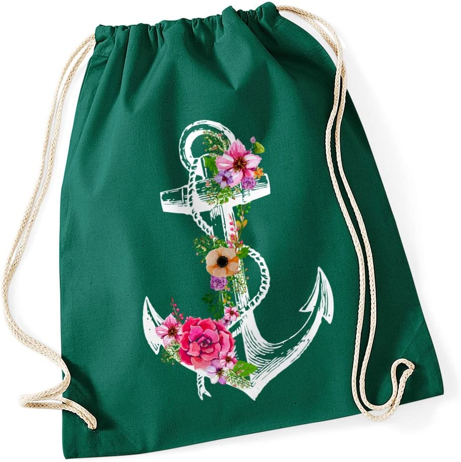 Turnbeutel Gym Bag Hipster Gymbag Sport Beutel Einhorn Unicorn Blumen Blume Neu