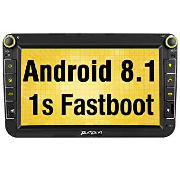 Pumpkin Android 8.1 Autoradio GPS con HD Pantalla IPS para VW Golf Seat Jetta Passat Polo