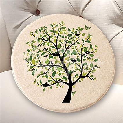 Almohada de lino y algodón con diseño de búho para el árbol ...