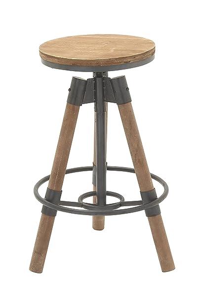 Amazoncom Deco 79 14910 Metal Wood Bar Stool 18 X 28 Kitchen