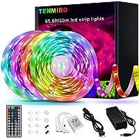 Tenmiro 65.6ft Led Strip Lights, Ultra Long RGB 5050 Color Changing LED Light Strips Kit with 44 Keys Ir Remote Led…