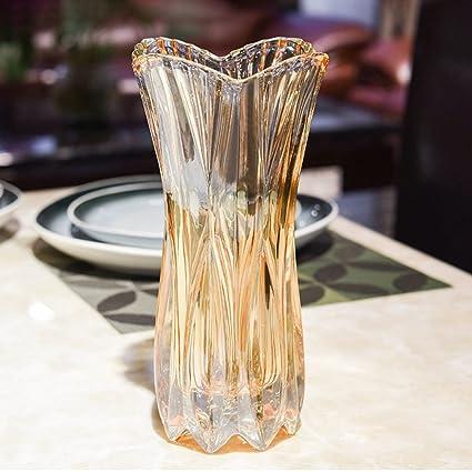 wysm Estilo europeo simple entrada de la sala de estar botellas de vidrio transparente flores secas
