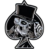 """Hot Leathers Top Hat Skull Patch (4"""" Width x 5"""" Height)"""