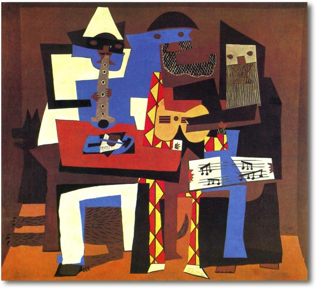 Cuadro Decoratt: Los tres musicos - Pablo Picasso 83x75cm. Cuadro de impresión directa.