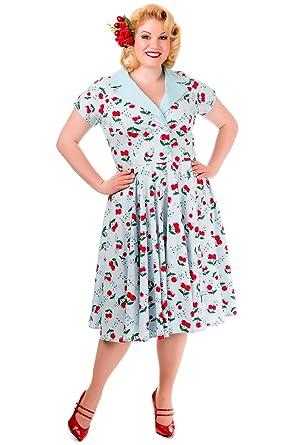 Banned Blindside Collar Vintage Cherry Dress Plus Size Uk 18