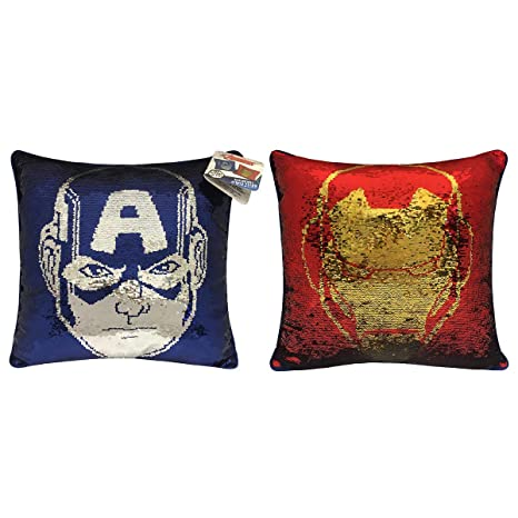 Amazon.com: Marvel Avengers - Almohada reversible de ...