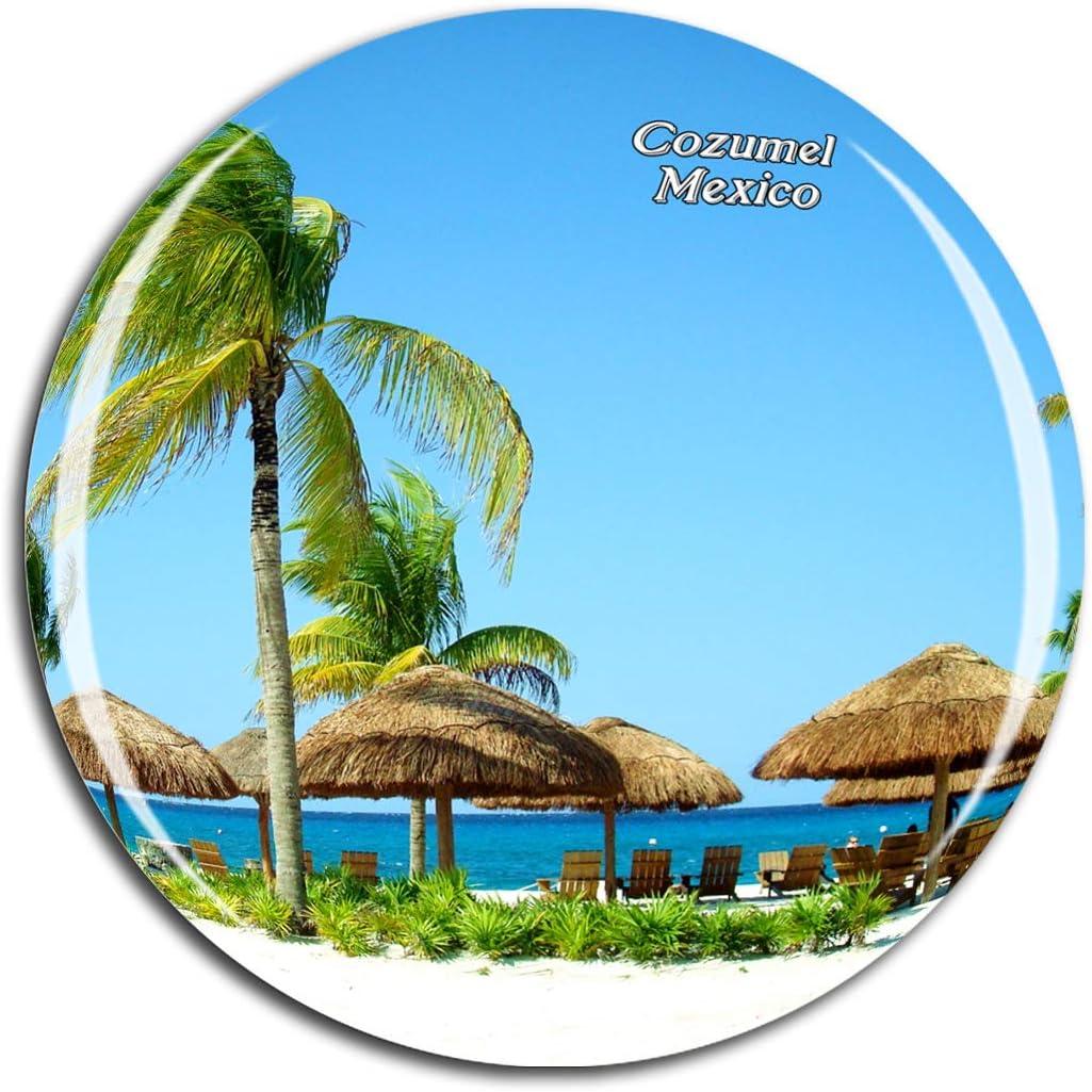 Weekino Mexico Beach Cozumel Fridge Magnet 3D Crystal Glass Tourist City Travel Souvenir Collection Gift Strong Refrigerator Sticker