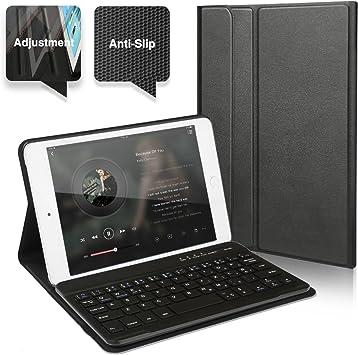 CoastaCloud iPad Mini 4 Funda con Teclado Bluetooth iPad Mini 4 Funda Cubierta Protectora con Teclado Inalambrico QWERTY Español para Apple iPad Mini ...