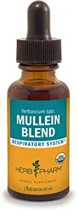 Herb Pharm Certified Organic Mullein Blend Extract for Respiratory System Support - 1 Ounce (DMULL01)
