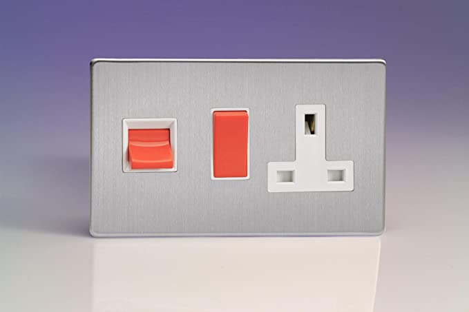 Varilight 45a Cooker Panel With 13a Double Pole Switched Plug Socket
