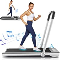 Folding Treadmill,Under Desk Treadmill for Home,2-in-1 Running,Walking & Jogging Portable Running Machine with Bluetooth…
