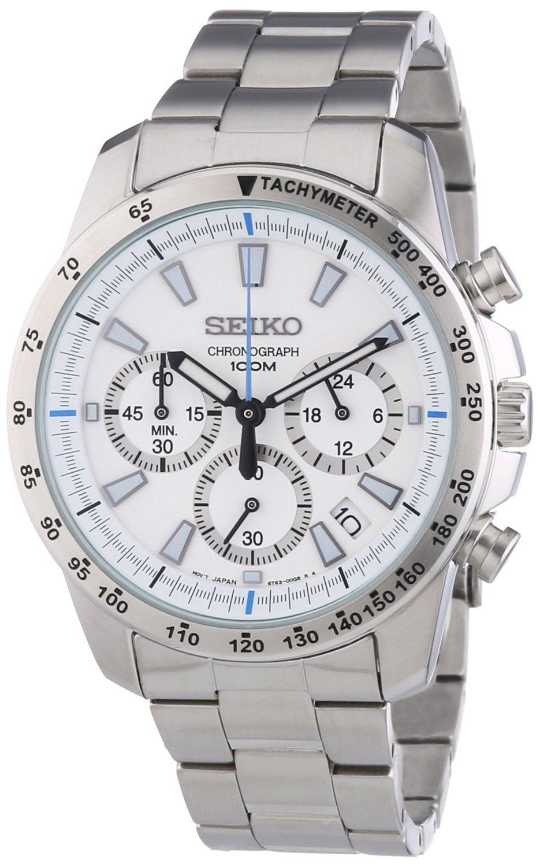 Seiko SSB025 men's Chronograph stainless Steel Case Watch by Seiko