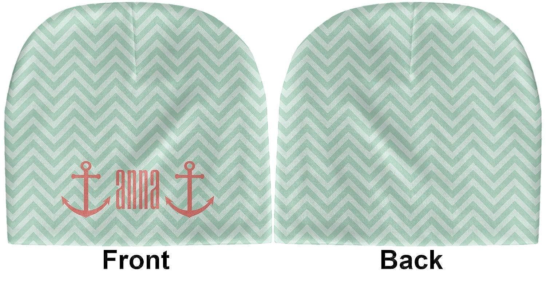 Personalized Green YouCustomizeIt Chevron /& Anchor Baby Hat Beanie