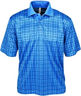 product image for Akwa Made in USA Men's Sublimated Bamboo Charcoal Polyester Mesh Polo Shirt