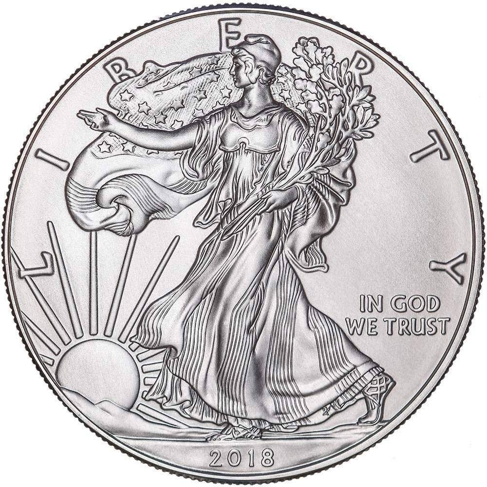 2018/American Argent/é avec Airtite support Silver Dollar livres sterling